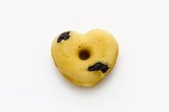 Doughnut gevormd hart Royalty-vrije Stock Afbeeldingen