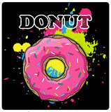 Doughnut greeting card. Stock Photo