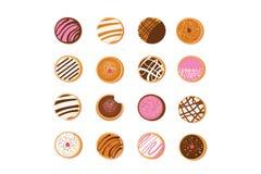 Doughnut Hanukkah, εβραϊκό σύμβολο διακοπών γλυκός παραδοσιακός ψήνει ελεύθερη απεικόνιση δικαιώματος