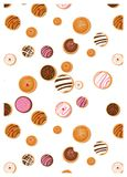 Doughnut Hanukkah, εβραϊκό σύμβολο διακοπών γλυκός παραδοσιακός ψήνει doughnut ευχετήρια κάρτα σχεδίων