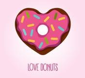Doughnut in hartvorm Royalty-vrije Stock Foto