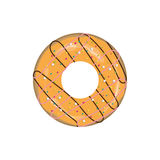 Doughnut icon. On a realistic plate stock illustration