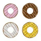 Doughnut icon set Royalty Free Stock Image