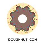Doughnut icon vector sign and symbol isolated on white background, Doughnut logo concept vector illustration