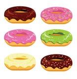 Doughnut. An illustration of a set of doughnuts Stock Illustration