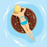 Doughnut Inflatable Back Royalty Free Stock Photo
