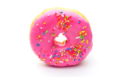 Doughnut. An isolated doughnut on white background Royalty Free Stock Image