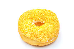 Doughnut. An isolated doughnut on white background Royalty Free Stock Images