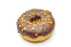 Doughnut. An isolated doughnut on white background Royalty Free Stock Photography