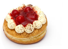 Doughnut with jam Royalty Free Stock Images