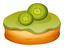 Doughnut with kiwi frosting Royalty Free Stock Photography