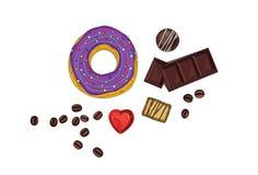Doughnut met chocolade Stock Afbeeldingen