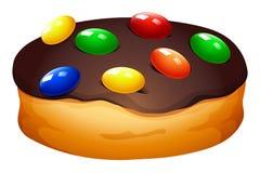 Doughnut met chocolade het berijpen Stock Foto