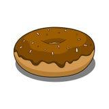 Doughnut met chocoladedeklaag Stock Foto's