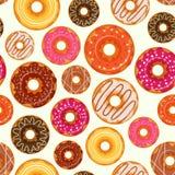 Doughnut naadloos patroon Royalty-vrije Stock Foto