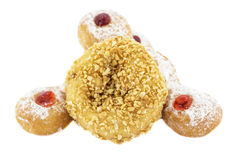 Doughnut nut and Doughnut Trio Royalty Free Stock Photo