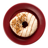 Doughnut with nuts Stock Photos