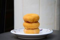 Doughnut op plaat Royalty-vrije Stock Foto