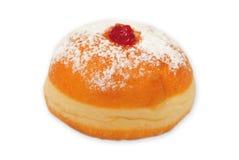 Doughnut op witte achtergrond stock afbeeldingen