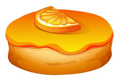 Doughnut with orange frosting Royalty Free Stock Images