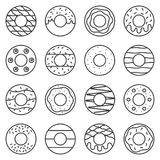 Doughnut outline icon. In various style Stock Photography