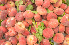 Doughnut peaches Stock Image