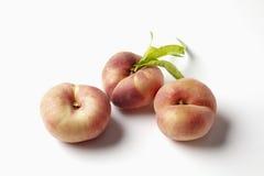 Doughnut peaches on white background Stock Images