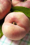 Doughnut peaches on white background Stock Photo