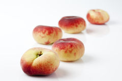 Doughnut peaches, white background Royalty Free Stock Images