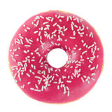 Doughnut in pink glazed Stock Image