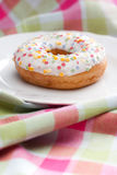 Doughnut on a plate Royalty Free Stock Photos