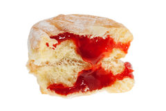 Doughnut with red jam Stock Photography