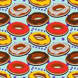 Doughnut seamless background design Stock Photo