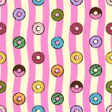 Doughnut seamless background. Doughnut cartoon seamless illustrations concept full colors vector illustration