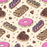 Doughnut Seamless pattern Stock Photography