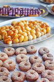 Doughnut-shaped bread roll Royalty Free Stock Images