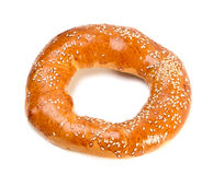 Doughnut-shaped bun bread roll with sesame Royalty Free Stock Photography