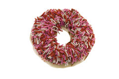 Doughnut with sprinkles Royalty Free Stock Photography