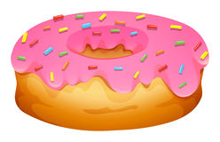 Doughnut with strawberry frosting Royalty Free Stock Photo