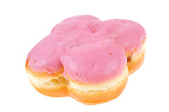 Doughnut with strawberry glaze Royalty Free Stock Images