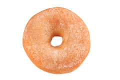 Doughnut with sugar. In front of white background royalty free stock photos