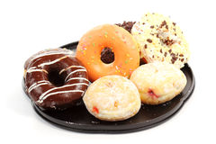 Doughnut on the tray Stock Images