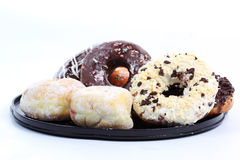 Doughnut on the tray Royalty Free Stock Photography