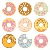 Doughnut vectorillustratie Royalty-vrije Stock Afbeelding