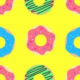 Doughnut vectorpatroon royalty-vrije illustratie