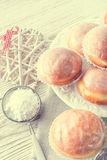 Doughnut - vintage style Stock Images