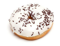 Doughnut with white cream Royalty Free Stock Images
