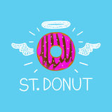 Doughnutconcept Royalty-vrije Stock Foto