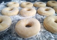 Doughnutdeeg Royalty-vrije Stock Afbeelding