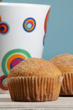 Doughnutmuffins royalty-vrije stock afbeeldingen
